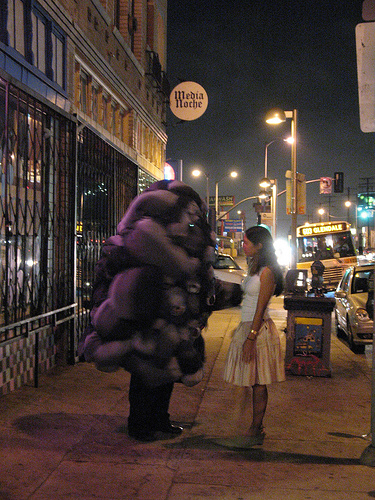 black cloud and girl on Alvarado - 01